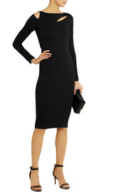 Donna Karan Cutout stretch-jersey dress