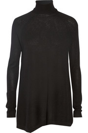 Donna Karan New York Asymmetric cashmere turtleneck sweater