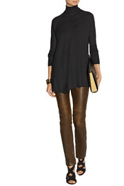 Donna Karan Asymmetric cashmere turtleneck sweater