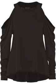 Donna Karan New York Cutout stretch-jersey top