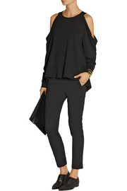 Donna Karan Cutout stretch-jersey top