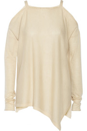 Cutout fine-knit cashmere sweater