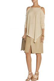 Donna Karan Cutout fine-knit cashmere sweater