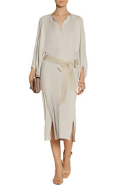 Donna Karan Belted stretch-jersey dress