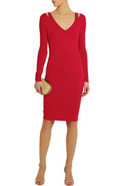 Donna Karan Wrap-effect stretch-jersey dress