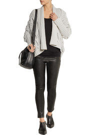 Donna Karan Draped cable-knit cashmere cardigan