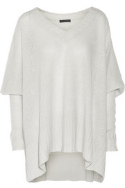 Donna Karan New York Draped cashmere and silk-blend sweater