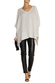 Draped cashmere and silk-blend sweater