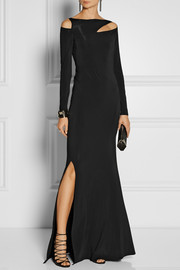 Donna Karan Cutout stretch-jersey gown