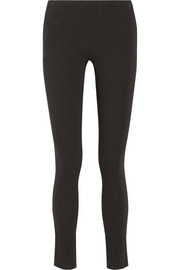 Stretch-crepe leggings-style pants