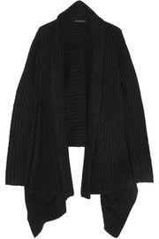 Donna Karan New York Ribbed cashmere and silk-blend cardigan