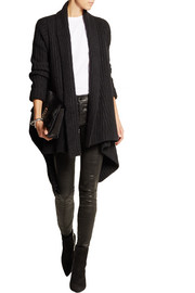Donna Karan Ribbed cashmere and silk-blend cardigan
