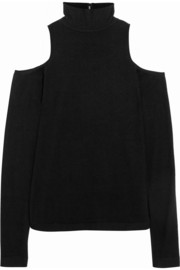 Donna Karan Cutout cashmere-blend turtleneck sweater