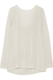 Draped modal-blend jersey top