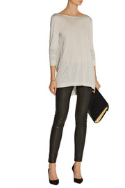 Donna Karan Draped modal-blend jersey top