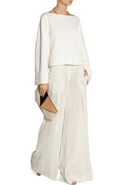 Donna Karan Stretch-crepe wide-leg pants
