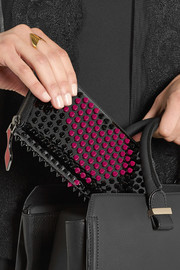 Panettone spiked patent-leather wallet