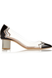 Nicholas Kirkwood Leather and PVC pumps