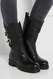 Jimmy Choo Dwight shearling-lined leather biker boots