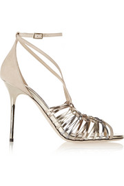 Legia suede and metallic leather sandals
