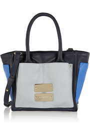 Nellie small color-block leather tote