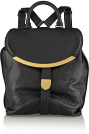 Lizzie textured-leather backpack