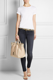 See by Chloé Nellie metallic coated canvas and leather tote