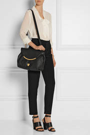 See by Chloé Lizzie large textured-leather shoulder bag
