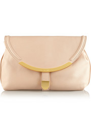 See by Chloé Lizzie textured-leather fold-over clutch