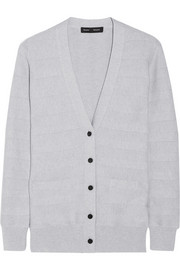 Silk, cotton and cashmere-blend cardigan