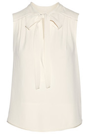 Proenza Schouler Pussy-bow crepe top