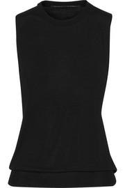 Twist-back merino wool top