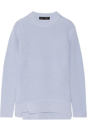 Oversized cotton and cashmere-blend sweater