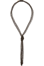Penelope oxidized gold-dipped necklace