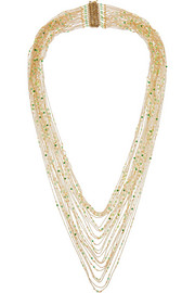 Rosantica Iliade gold-dipped agate necklace