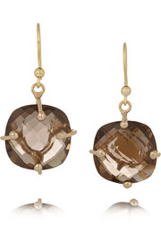 Rosantica Nobiltà gold-dipped quartz earrings