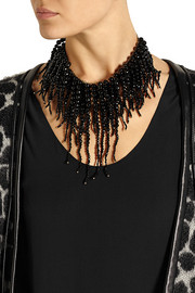 Rosantica Anemone gold-dipped onyx necklace