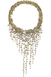 Ruscello gold-dipped hematite necklace