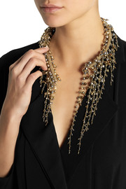 Rosantica Ruscello gold-dipped hematite necklace