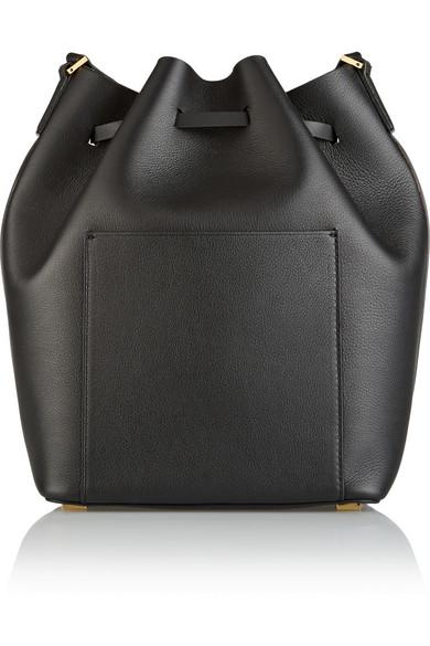 michael kors collection miranda large leather bucket bag net a porter com. Black Bedroom Furniture Sets. Home Design Ideas