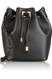 Michael Kors Miranda large leather bucket bag