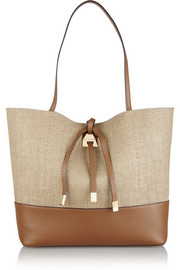 Michael Kors Miranda large canvas and leather tote