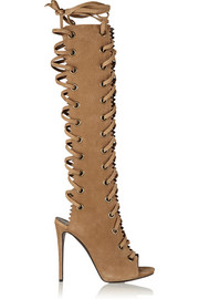Giuseppe Zanotti Textured-suede knee boots
