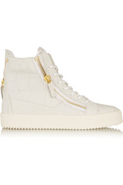 Giuseppe Zanotti Croc-effect leather high-top sneakers