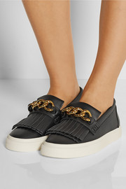 Giuseppe Zanotti Embellished leather slip-on sneakers