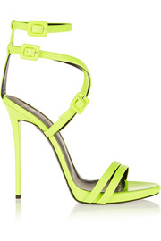 Neon leather sandals