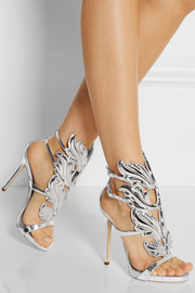 Giuseppe Zanotti Embellished patent-leather sandals