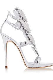 Embellished patent-leather sandals