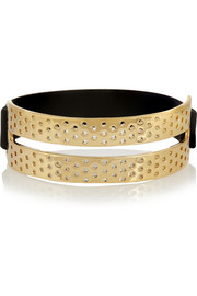 Marc by Marc Jacobs Perf-ection gold-tone and rubber bracelet