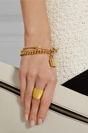 Marc by Marc Jacobs Locked Up gold-tone cubic zirconia bracelet